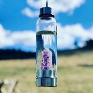Natural Yoga Sports Healing Crystal Elixir Bottle
